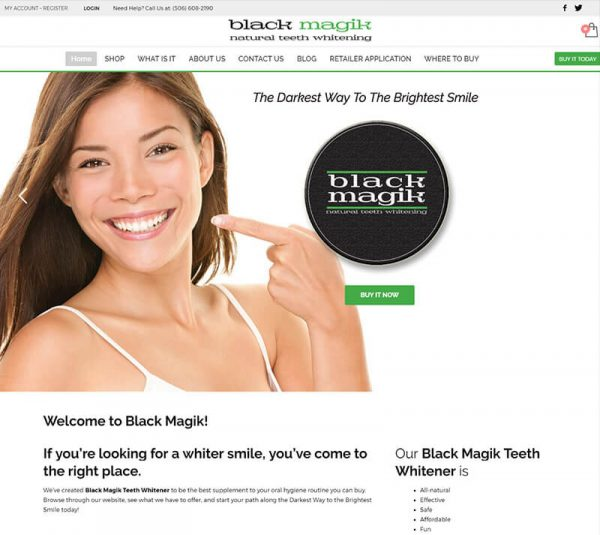 Black Magik teeth whitening featured